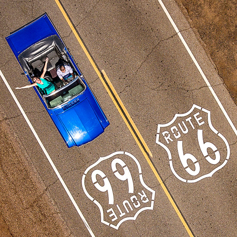 aerial image route 66 raf willems